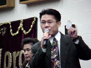 Special guest speaker, Pator. Vong Louangkham Deng, an awesome speaker.